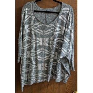 Asymmetric Cape Sleeve Tie-Side T-Shirt - NWOT